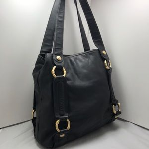 b. makowsky Bags - B Makowsky Black Glove Leather Tote
